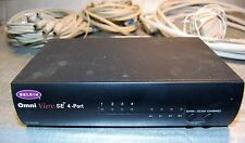 F1D104 Belkin Omni View  SE 4-Port PS/2 KVM SWITCH with cables