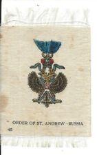 Vintage Tobacco Cigarette Silk, Order of St. Andrew, RUSSIA (20.725)