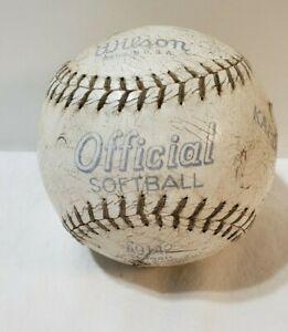 Wilson Softball A9142. KAPOK Center 12 inch USED  USA Shows wear