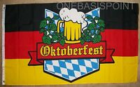 3'x5' Oktoberfest Germany Flag Beer Party Bavaria German Banner Munich Drink 3X5