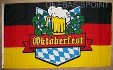 3'x5' Oktoberfest Germany Flag Beer Party Bavaria German Banner Munich Drink 3X5