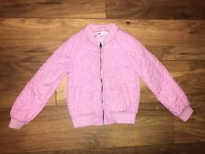 girls 6-7 years H&M sparkly pink bomber jacket coat