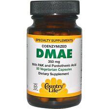 DMAE 350 mg, 50 Veggie Caps, Coenzymized, - Country Life