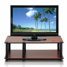 Dark Cherry Tv Stand Media Entertainment Center Sturdy 32 40 Inch Flat Screen