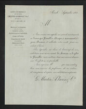 "PARIS (II°) CONFECTIONS en LAINE MERINOS & CACHEMIRE ,MODE ""MARTIN & VARIN"" 1883"
