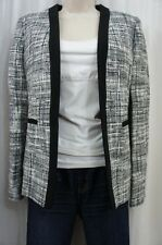Kasper Separates Suit Blazer Sz 4 Black White Jewel Box Tweed Career Jacket