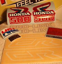 VINTAGE MOTOCROSS Honda CR500 1986 decal kit AHRMA VMX CR500R RC500 Works