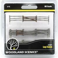 Woodland Scenics A2981 Log Fence (HO Scale) Model Railroad Terrain Scenery Set