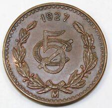 1927 Mexico / Mexican 5 Centavos - XF Extra Fine Condition