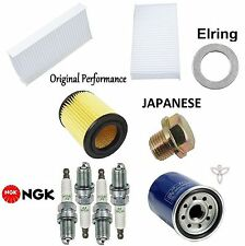 Tune-Up Kit Cabin Air Oil Filters Plugs for Acura RSX Base; L; K20A3 Eng 02-04