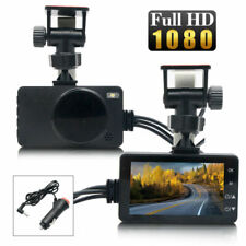 "3"" 1080P Waterproof Motorcycle Motorbike Dual Action Camera Video DVR Camcorder"