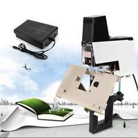 106 Auto Electric Stapler+ Saddle Stapler Book Stitcher Binding Machine w/ Pedal