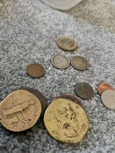 Antique Alexander the Great tetradrachm and Solid Silver coins with roman coins