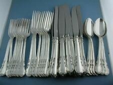 Sterling LUNT Flatware Set (8) 4pc Place Settings MODERN VICTORIAN ~ no mono