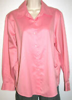 Talbots Petites Pink Wrinkle Resistant Long Sleeve Button-Down Shirt Size 12P