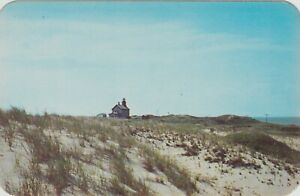 "North Block Island Rhode Island North Light Beacon Shore Vintage Postcard (3x5"")"