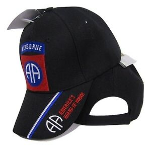 U.S. Army 82nd Airborne Guard of Honor Embroidered Black Baseball Cap Hat