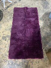 63X31 Dark Purple Rug Faux Fur