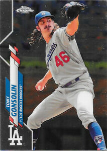 2020 Topps Chrome #114 Tony Gonsolin RC - Los Angeles Dodgers Rookie