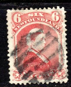 NEWFOUNDLAND 1870 QUEEN VICTORIA SIX CENTS DULL ROSE