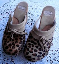 Bequeme Buffalo Clogs animal Print  Gr 37