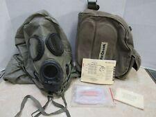 US M17 A1 A2 Gas Mask MSA w Canvas Bag Manual Hood M8 Chemical Paper Medium