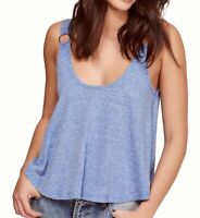 Free People Womens Carly Tank Top Heather Blue Size Small S Scoop-Neck $38 572