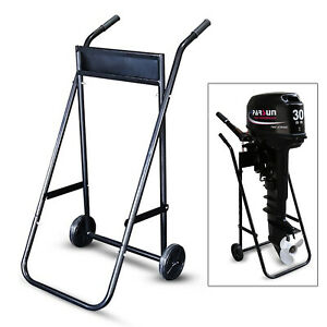 Heavy Duty Outboard Motor Trolly Engine Stand Carrier Outboard Engine Transport