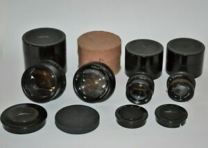 SUPER SET OF LOMO INDUSTAR LENSES: I-11m + I-51 + I-37 + I-13  for LARGE FORMAT