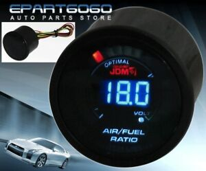 "2"" 52mm Air Fuel Ratio JDM Volt Blue Digital Led Auto Gauge Meter Civic Integra"