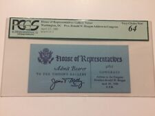 1983 President Ronald Reagan State of the Union Address to Congress Ticket PCGS