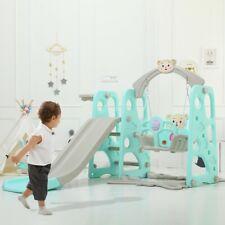 Toddler Indoor/Outdoor playground Set Swing Slide Set & Backyard Baskets Kit Us