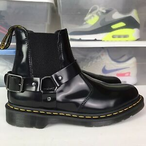 Dr Martens WINCOX AW009 SMOOTH LEATHER BUCKLE BOOTS Men Sz 10 Women's 11.5