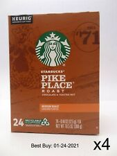 Starbucks Pike Place Medium Roast Coffee K-Cup Pods - 96 count (24-pack x 4)