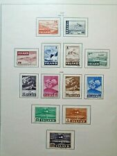 1947-48 LOT ICELAND ISLAND ISLANDE VF USED W44.44 START 0.99$