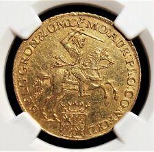 Netherlands: Groningen & Ommeland. Provincial gold 14 Gulden 1761 AU55 NGC.