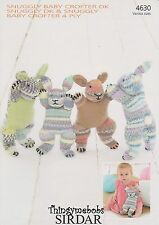 SIRDAR 4630 SNUGGLY BABY CROFTER BUNNIES/RABBITS ORIGINAL KNITTING PATTERN