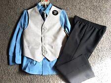 New George Boys' Dress Vest set 4-Piece Shirt, Pants, Vest and Tie Set size 5