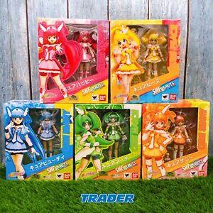 Glitter Force Smile Precure! S.H.Figuarts Cure Figure 5 box set BANDAI *FASTSHIP