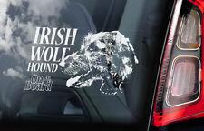 IRISH WOLFHOUND Car Sticker, Wolf Hound Dog Window Sign Bumper Decal Gift - V02