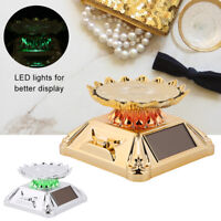 Solar 360° Turntable Rotating Showcase Jewelry Watch Phone Display Stand Holder
