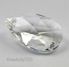 1x SWAROVSKI 6106 CLEAR CRYSTAL 50mm TEARDROP PENDANT CRYSTAL