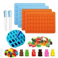 4pcs Gummy Bear Mold Candy Making Supplies Ice Chocolate Maker Silicone