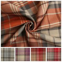 Soft Tartan Faux Wool Large Check Classic Design Curtain Cushion Sofa Fabric