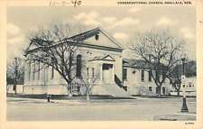 Ogallala Nebraska Congregational Church Street View Antique Postcard K18372