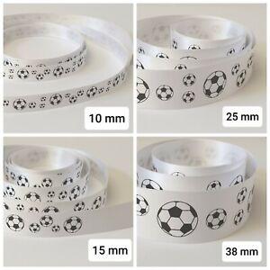 Football Ribbon 10 15 25 and 38mm widths various lengths fast post satin ribbon