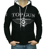 Top Gun 6550 Sweatshirt mit Kapuze in versch. Farben schwarz und weiß erhältlich