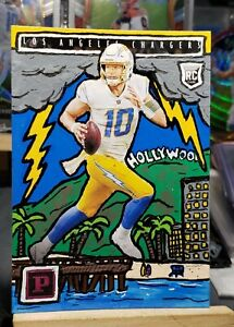 """2020 Panini Chronicles Justin Herbert Rookie CUSTOM """"HOLLYWOOD"""" SP #1/1 Chargers"""
