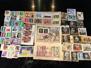 Collection Of Mixed Stamps Collectable Philately Penny Black Anniversary & More