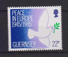 GUERNSEY 1985 PEACE IN EUROPE STAMP SET MNH SG 337